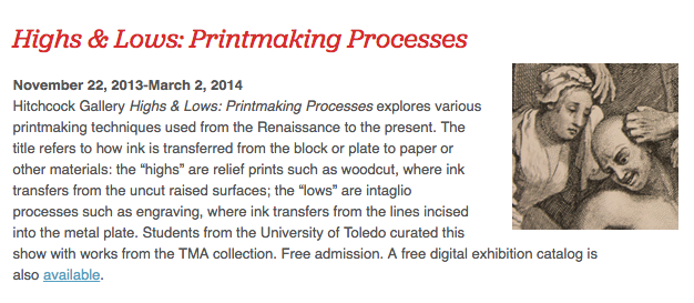 Highs and Lows: Printmaking Processes